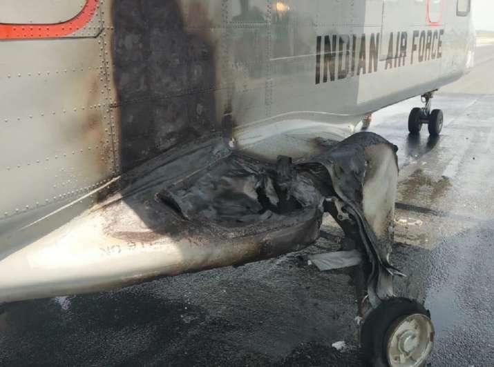 IAF aircraft aborts take off, take off aborted, delhi palam air base, IAF aircraft tyre deflation, I
