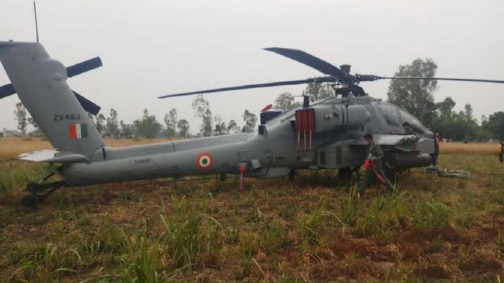 Punjab: IAF Apache helicopter makes emergency landing in ...