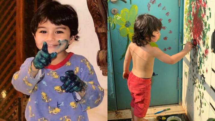 Ibrahim Ali Khan's 'Picasso Jr' post is as adorable as Taimur's 'in-house Picasso' photo. Seen it ye