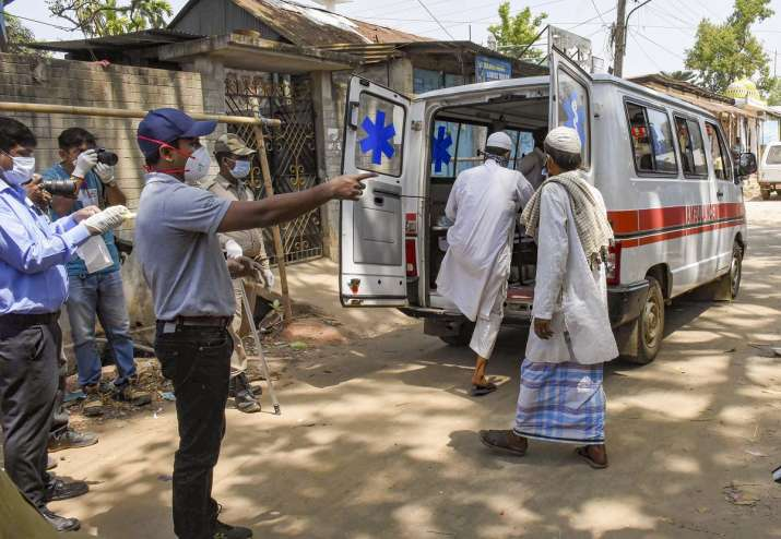 Agartala: An ambulance carries devotees, who had recently