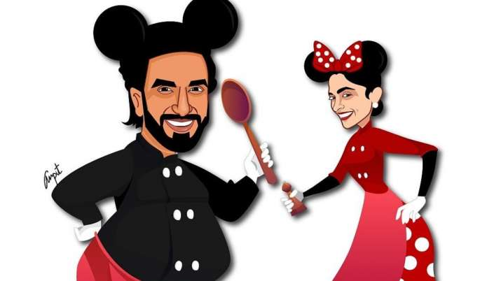 Ranveer Singh, Deepika Padukone turn into Mickey and Minnie amid lockdown