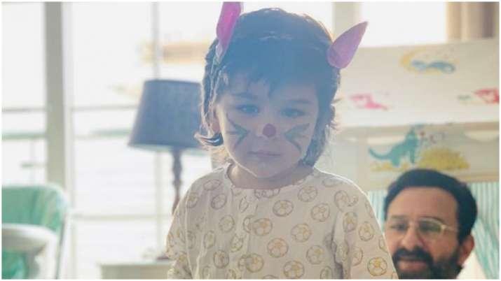 Taimur is the cutest bunny on Easter Sunday as dad Saif Ali Khan looks on, Kareena Kapoor shares pic