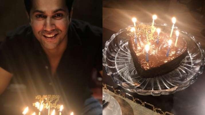 Varun Dhawan celebrates 33rd birthday with homemade chocolate cake. Check inside photos