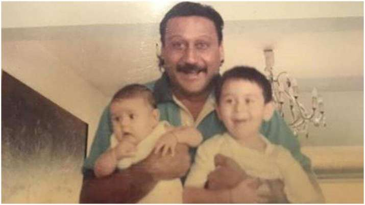 Jackie Shroff's throwback pic holding son Tiger and daughter Krishna is unmissable