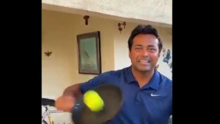 leander paes, leander paes india, leander paes frying pan challenge, frying pan challenge, mahesh bh