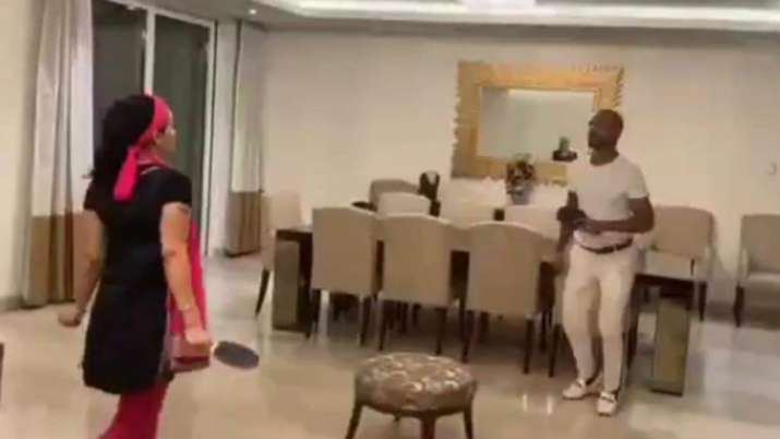 Indian cricketer Shikhar Dhawan posted a video of him