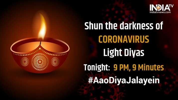 Candle Light Live stream Watch full video pm modi candle light for 9 minutes: 1.3 crore people are e