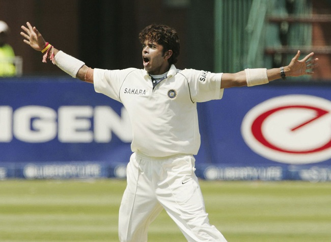 India Tv - Sree Sreesanth of India celebrates the wicket of Shaun Pollock during Day Two of the First Test between South Africa and India at the Liberty Life Wanderers Stadium on December 16, 2006 in Johannesburg, South Africa.