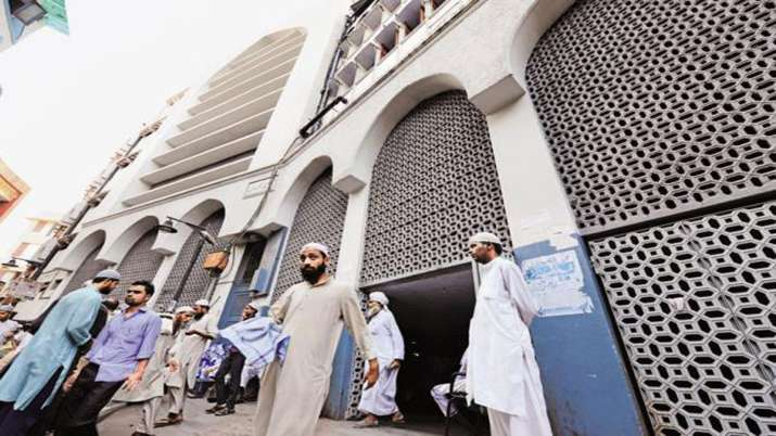 A file photo of people at the Tablighi Jamaat headquarters