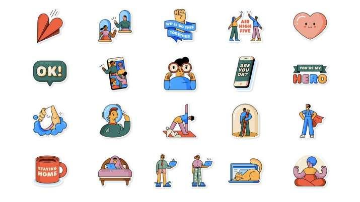 whatsapp, whatsapp stickers, whatsapp together at home stickers, whatsapp together at home stickers