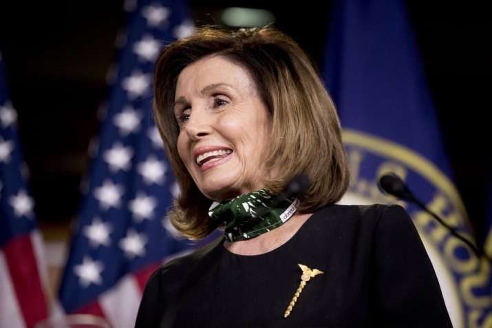 House Speaker Nancy Pelosi of Calif., smiles during a news conference on Capitol Hill, Thursday, May