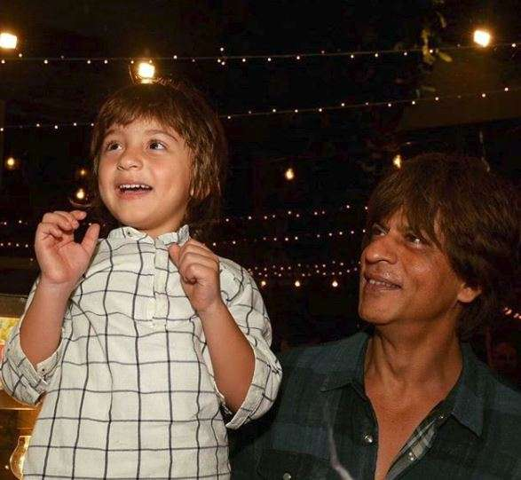 India Tv - Shah Rukh Khan's son AbRam turns 7 today