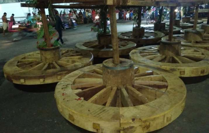 India Tv - Lord Jagannath Rath Yatra chariots wheels