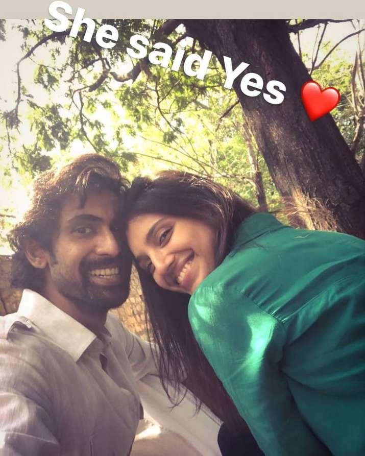 India Tv - Actor Rana Daggubati and his beautiful fiance Miheeka Bajaj