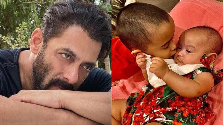 Photo of Salman Khan's nephew Ahil lovingly kissing sister Ayat goes viral. Seen yet?
