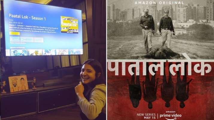 Anushka Sharma Is Elated As Sab Lok Ke Sab Log Ab Dekh Rahe Hai Paatal Lok Shares Photo Web Series News India Tv