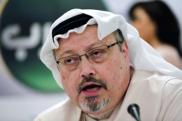 India Tv - FILE - In this Dec. 15, 2014, file photo, Saudi journalist Jamal Khashoggi speaks during a press con