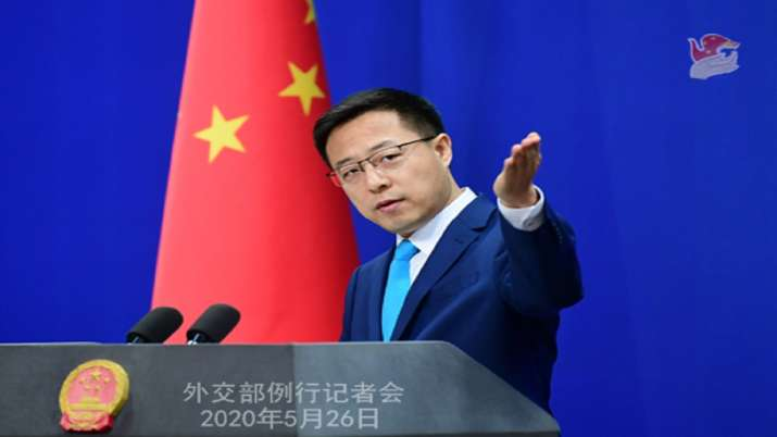Zhao Lijian, the Chinese foreign ministry spokesperson,