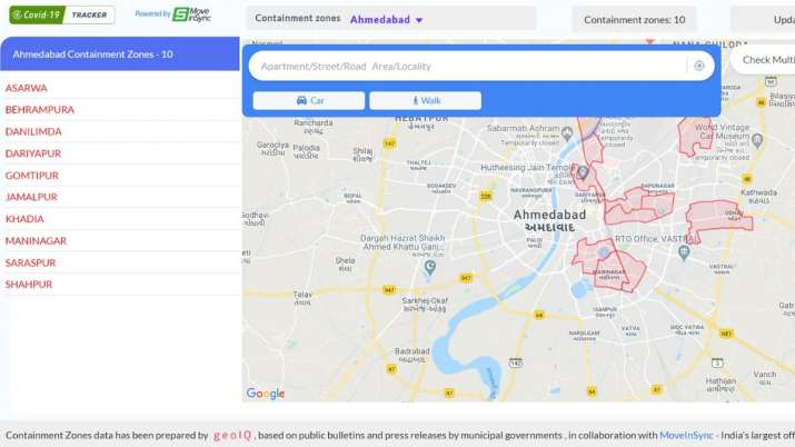 This Covid 19 Hotspot Tracker Can Check If You Are In Containment Zone Here S How It Works Technology News India Tv