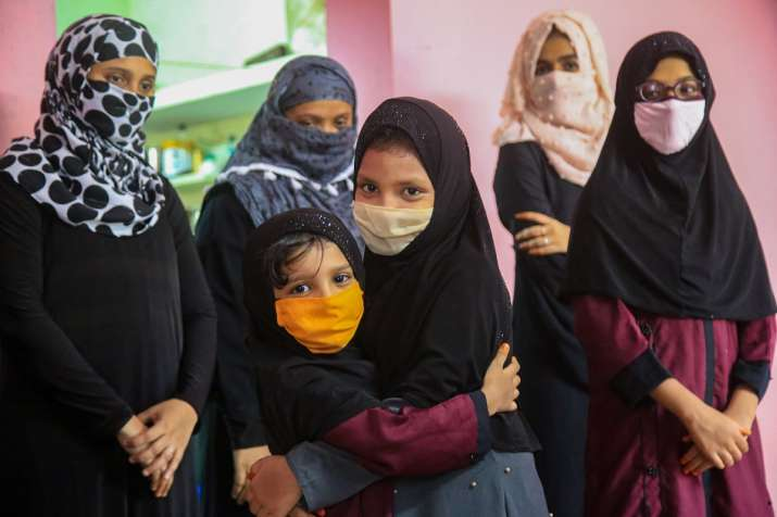 India Tv - Kanyakumari: Children greet each other while celebrating Eid-ul-Fitr at their house, during the ongoing COVID-19 lockdown, in Kanyakumari district, Monday, May 25, 2020.