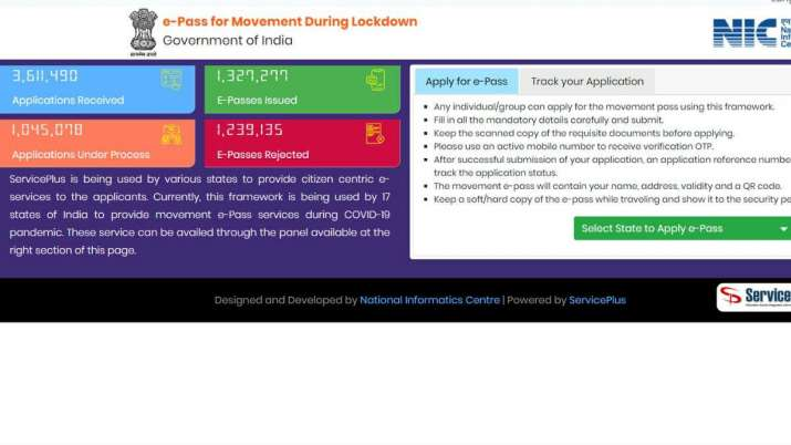 How To Get E Pass Online For Interstate Travel Amid Covid 19 Lockdown 4 0 Technology News India Tv