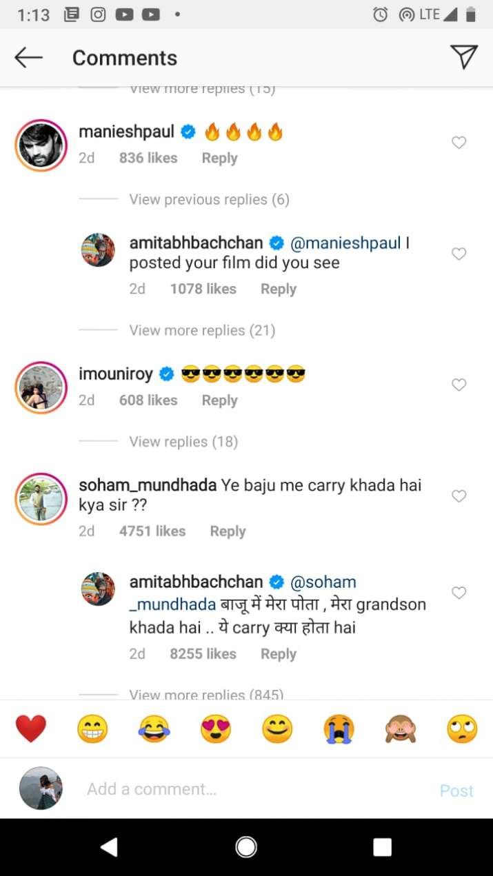 India Tv - Comments on Amitabh Bachchan's post