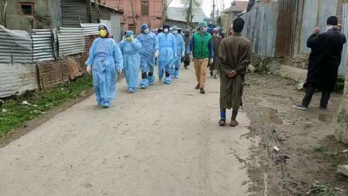 Representational image of health workers in a neighbourhood