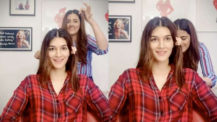 Kriti Sanon gets 'quarantine' haircut from sister Nupur. Seen her new look yet?