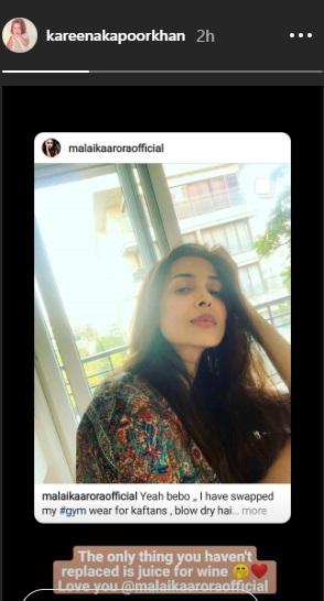 India Tv - Kareena's post for Malaika