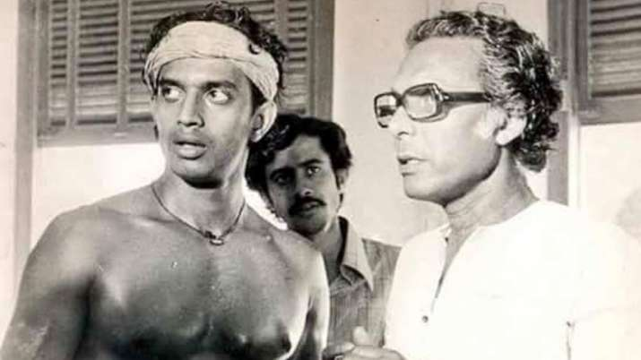 On Mrinal Sen's 97th birth anniversary, throwback photo with Mithun Chakraborty from sets of 'Mrigay