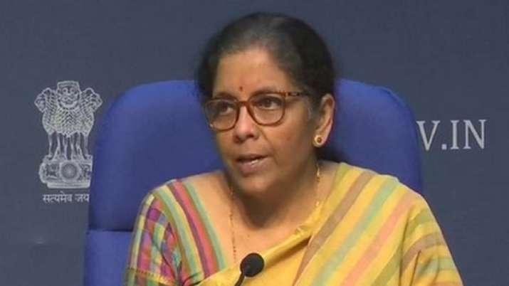 Union Finance Minister Nirmala Sitharaman addressing a