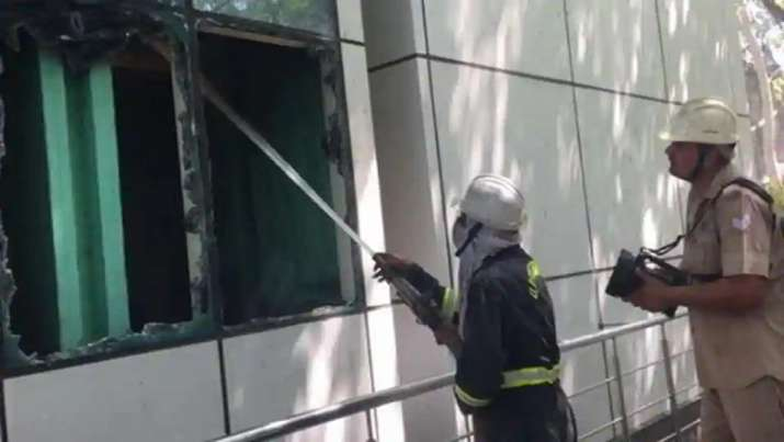Fire at Noida Authority office, several files gutted