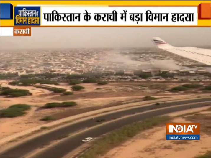 PIA Plane Crash: Watch dramatic footage of crashsite recorded from second plane landing moments afte