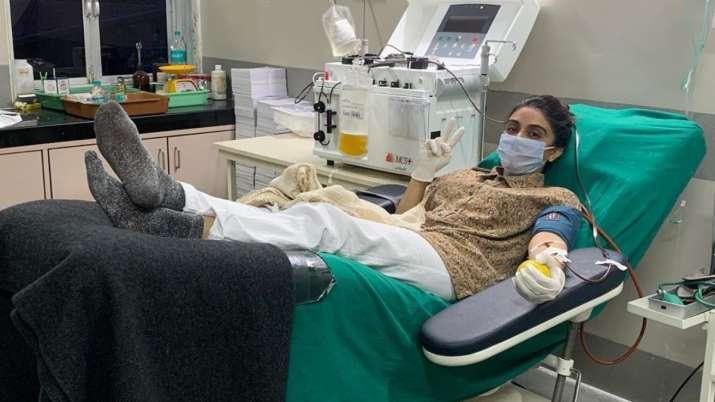 Zoa Morani donates plasma second time