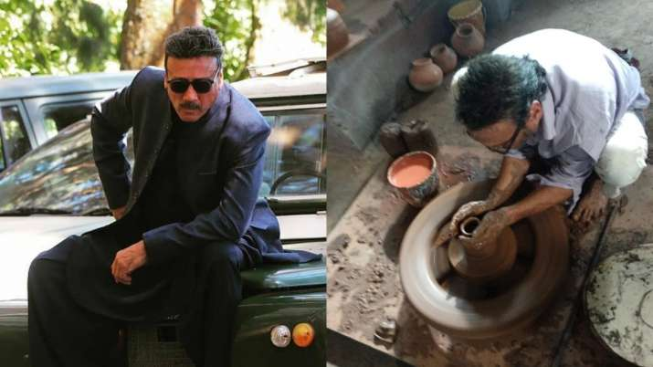 Jackie Shroff tries his hands on making clay pots during lockdown