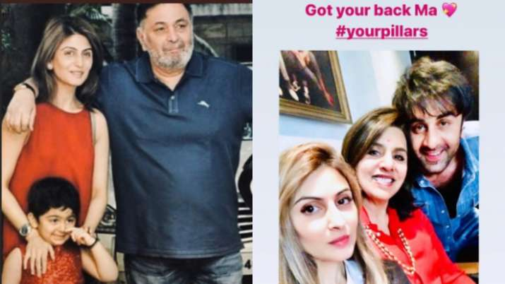 India Tv - Riddhima Kapoor shares another family picture with Rishi Kapoor