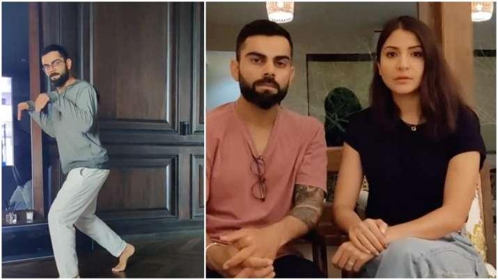Anushka Sharma spots 'dinosaur' at home, shares hilarious video of husband Virat Kohli
