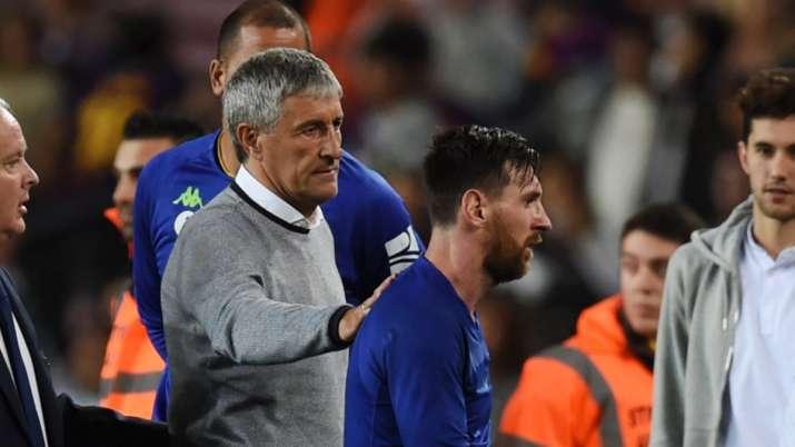 Quique Setien responds to Lionel Messi's 'Barca cannot win UCL' remark
