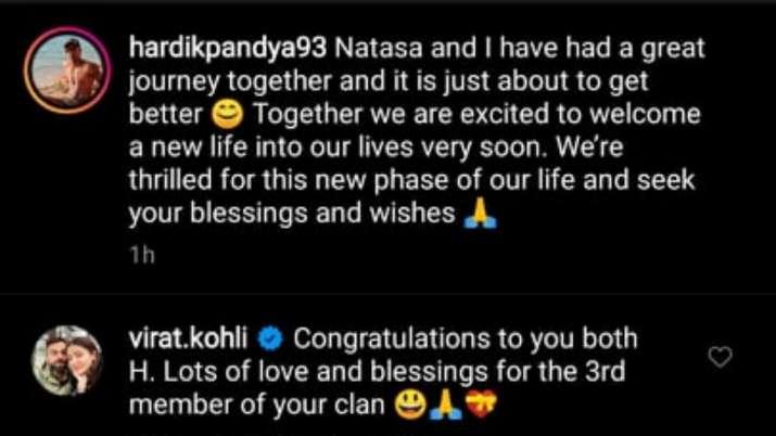 India Tv - Virat Kohli congratulates Hardik Pandya.