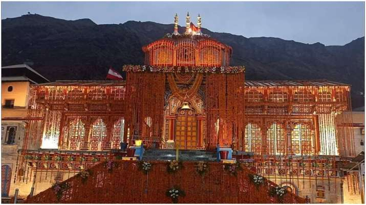 Lord Badrinath temple all set to open tomorrow morning with grand flower decorations