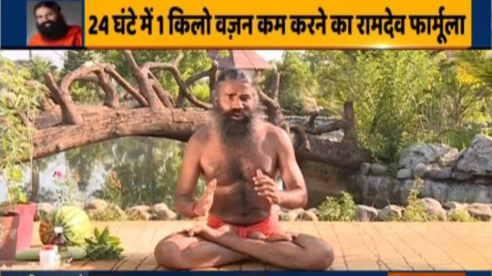 Exclusive Yoga For Weight Loss Lose 1 Kg In 24 Hours Swami Ramdev Shows How Exclusive News India Tv