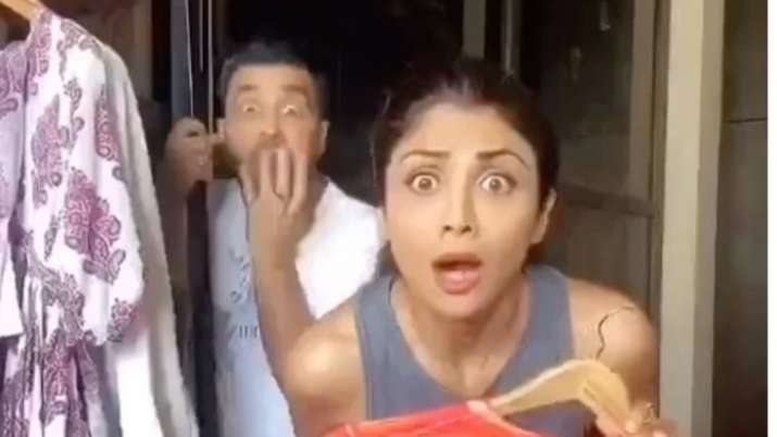 Shilpa Shetty's funny video of hubby Raj Kundra, domestic help and kissing