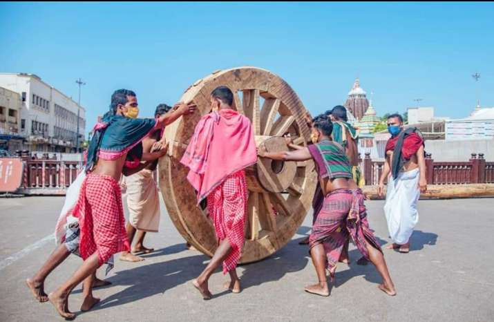India Tv - Preparations for Rath Yatra in Puri were in full swing when Supreme Court stayed the planned chariot