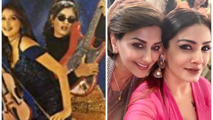 Raveena Tandon shares then-and-now photo with Sonali Bendre, fans call them 'more gorgeous than thro