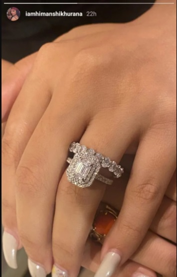India Tv - Himanshi's post about the ring
