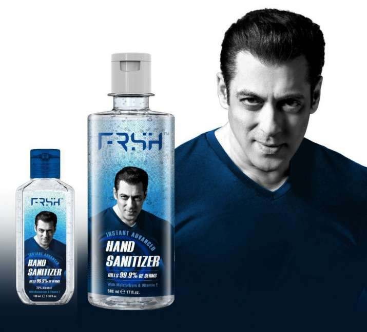 India Tv - Salman Khan's newly launched sanitizer 'FRSH'