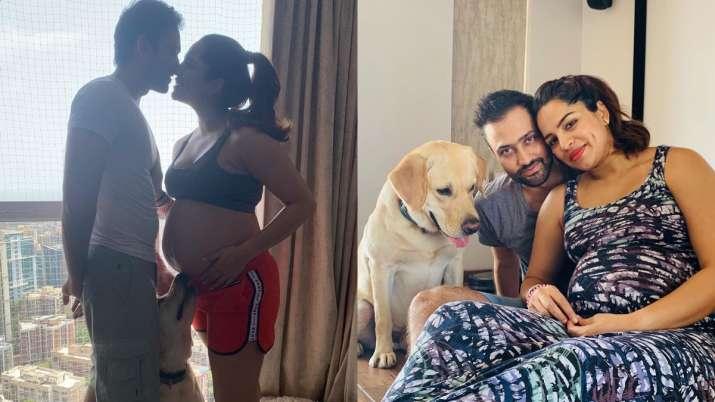 KumKum Bhagya fame Shikha Singh's pregnancy photos with husband and dog are unmissable