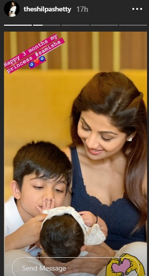 India Tv - Shilpa Shetty's post with daughter Samisha and son Viaan