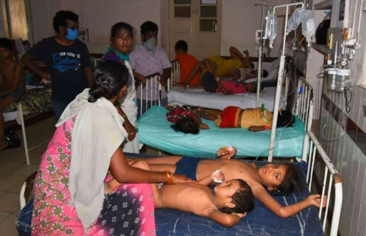 Visakhapatnam: Affected children being treated at King