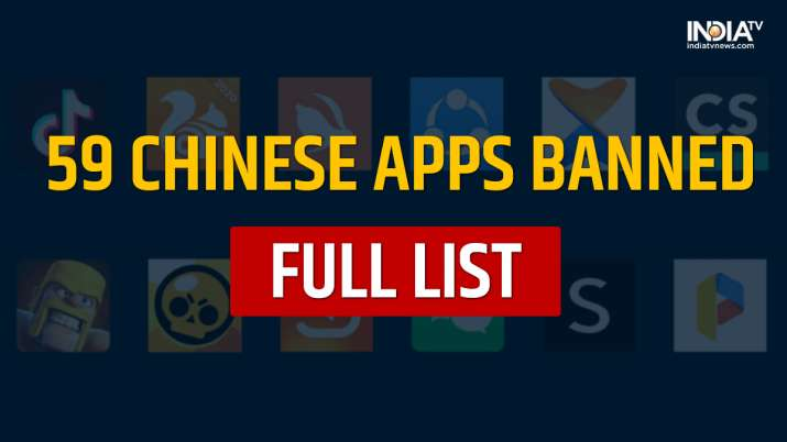 full list of chinese apps banned, 59 chinese apps banned, chinese apps ban, tiktok, likee, wechat, U